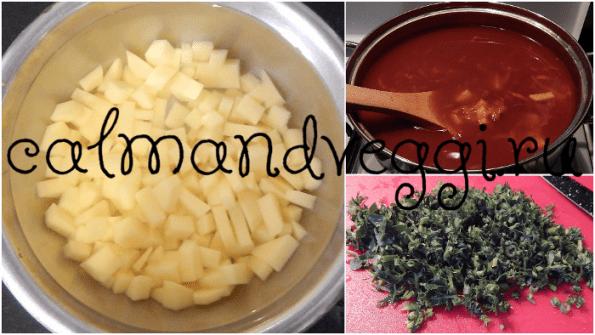 Постный фасолевый суп из красной фасоли