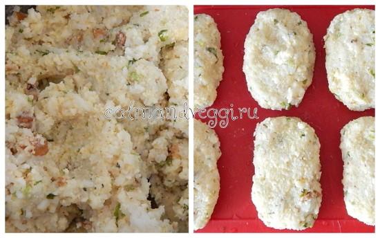 Рисовые котлеты с сыром и орехами. Рецепт.