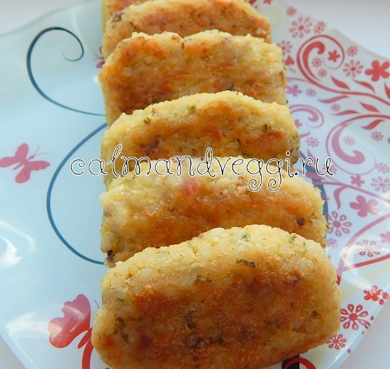 Котлеты рисовые с сыром фото рецепт
