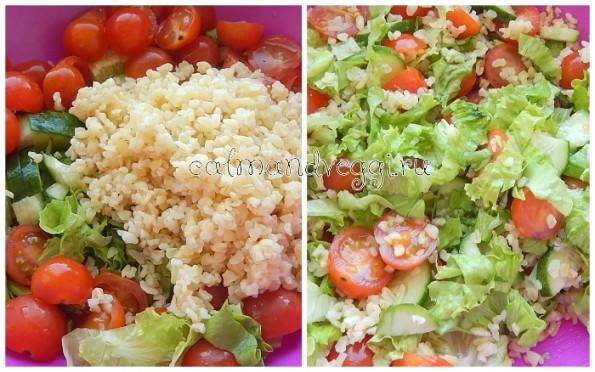 Свежий салат с булгуром рецепт с фото пошаговый