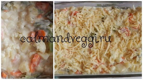 запеченные овощи по-французски под сырным соусом