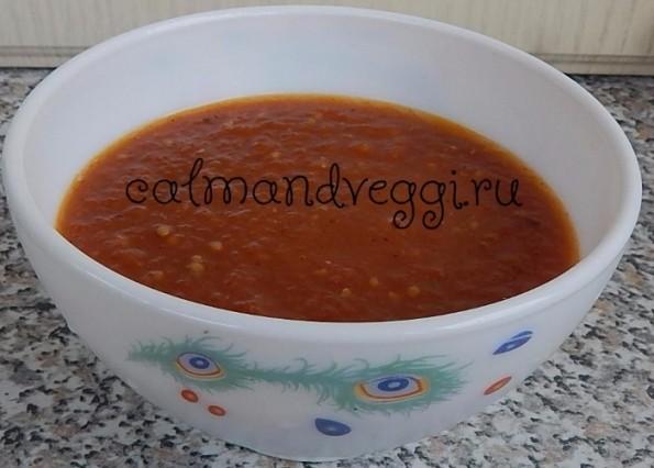 Томатный соус из свежих помидоров