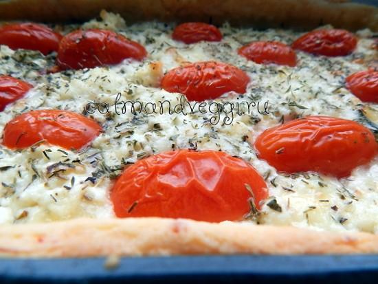 Сырный пирог с томатами черри. Пошаговый рецепт с фото.