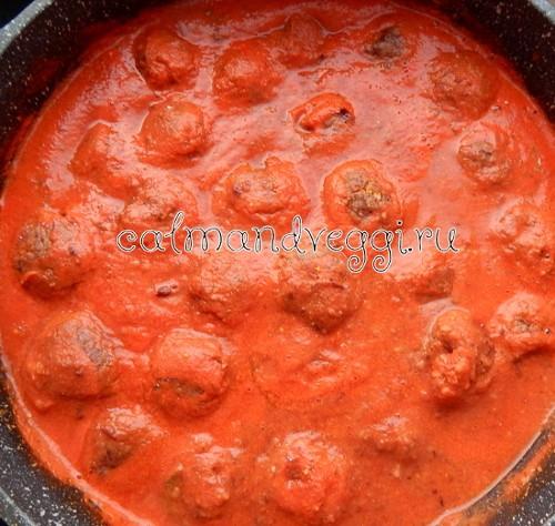 Вегетарианские тефтели из фасоли в томатном соусе, пошаговый рецепт с фото
