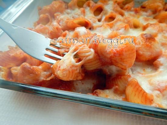 Макароны с сыром в духовке (запеченные в томатном соусе), пошаговый рецепт с фото
