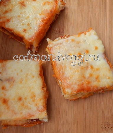 Пицца на хлебе, пошаговый рецепт с фото