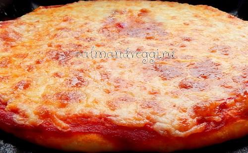 Домашняя вегетарианская пицца рецепт с фото пошаговый