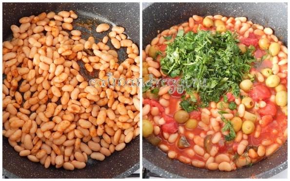 Вегетарианская солянка из белой фасоли рецепт с фото пошаговый