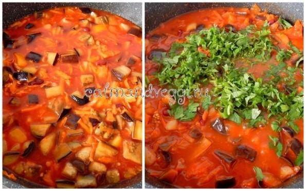 Овощное рагу с красной фасолью рецепт с фото