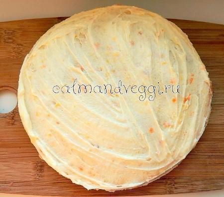 Торт с апельсиновым кремом и прослойкой