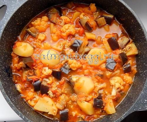 Овощное рагу с картошкой рецепт с фото