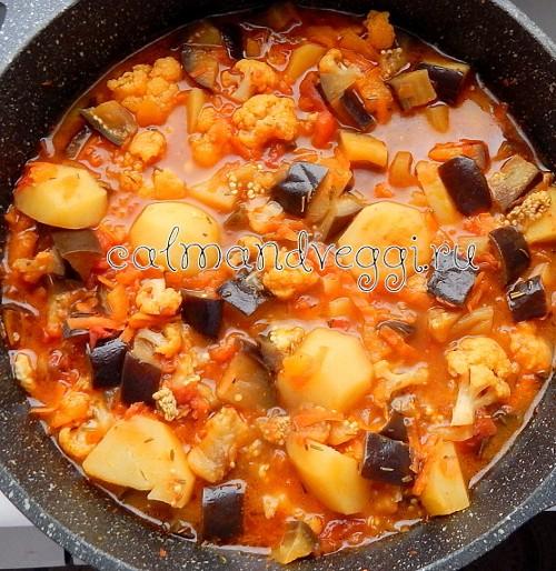 Рагу из картофеля и овощей рецепт с фото