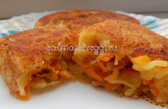вегетарианские котлеты без мяса картофельные с капустой