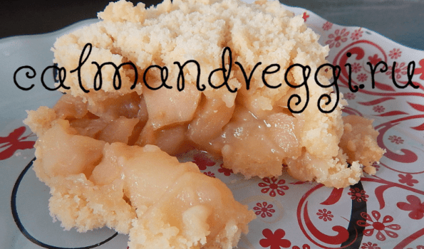 яблочный пирог без яиц рецепт с фото