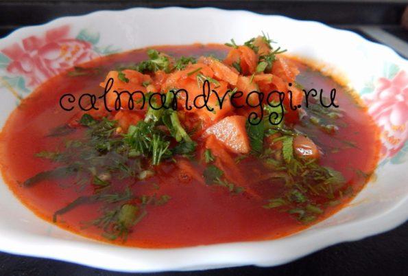 вегетарианские супы - вкусный борщ