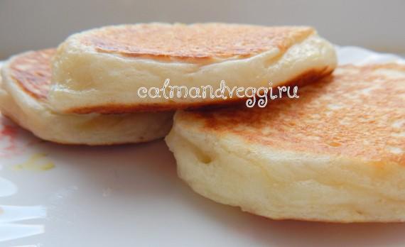 творожные оладьи без яиц на молоке