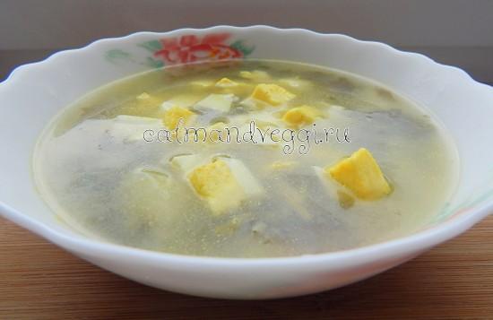 вегетарианские супы щавель