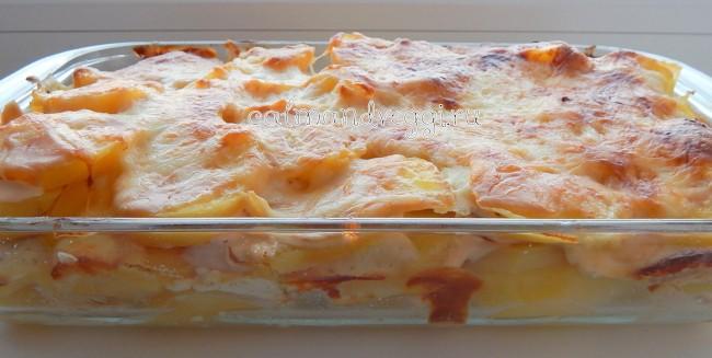 картофель с адыгейским сыром в духовке
