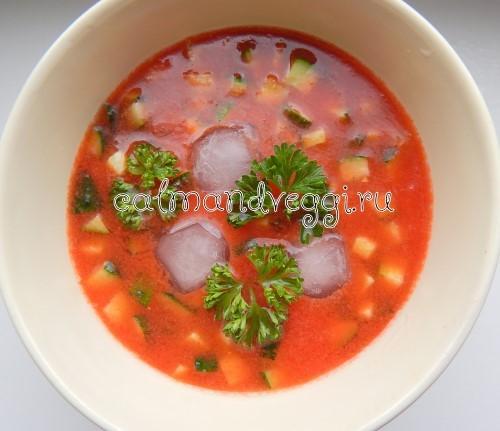вегетарианские супы гаспачо