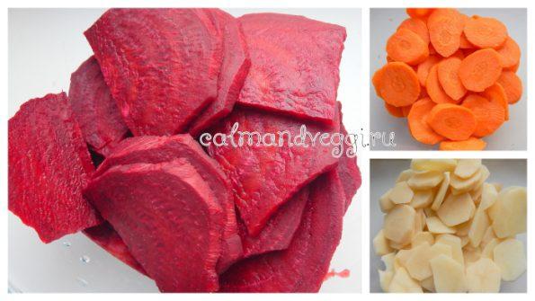 печеная свекла в духовке с картошкой и морковью рецепт с фото