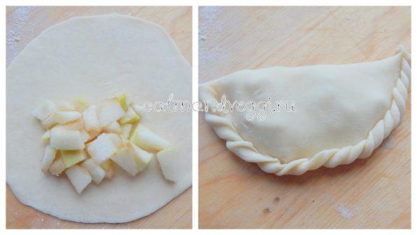 пирожки на тонком тесте с яблоками
