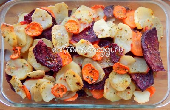 зимние овощи в духовке