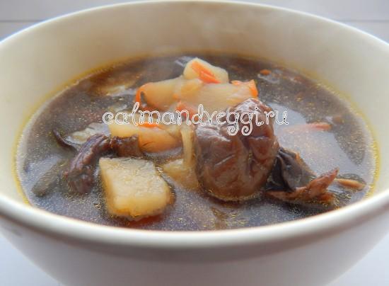 вкусный грибной суп из сушеных грибов пошаговый рецепт с фото