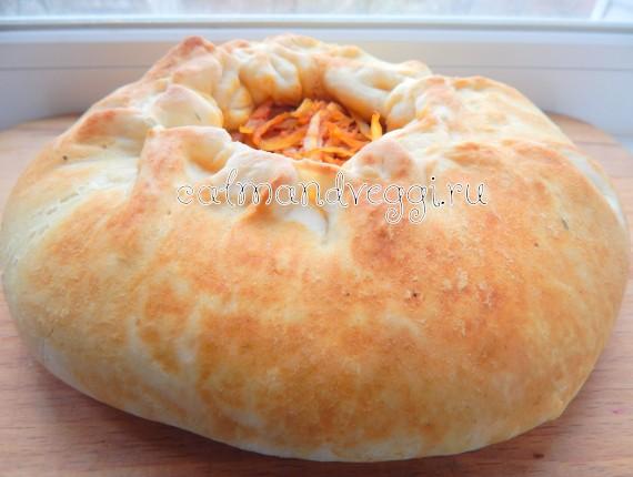 пирог с капустой из дрожжевого теста в духовке пошаговый рецепт с фото