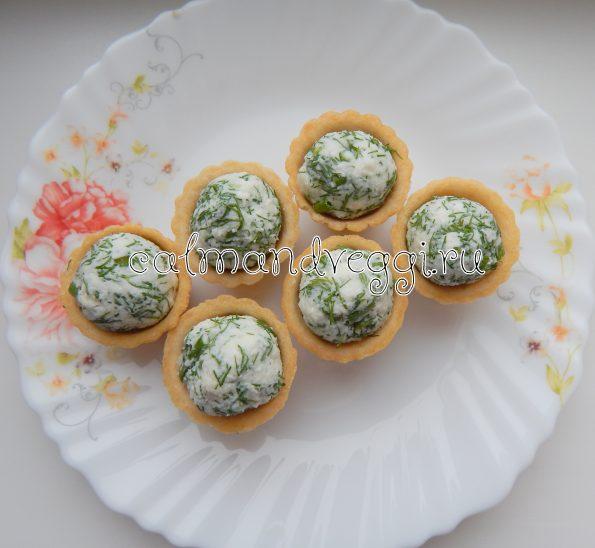 тарталетки с сыром и зеленью рецепт с фото