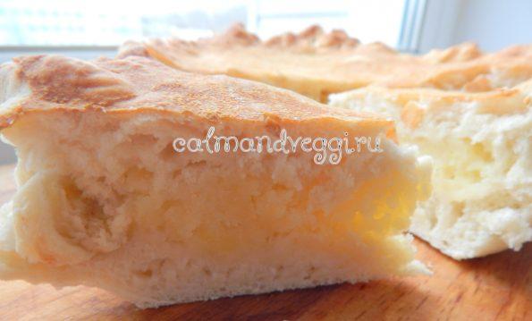 постный дрожжевой пирог с картошкой пошаговый рецепт с фото