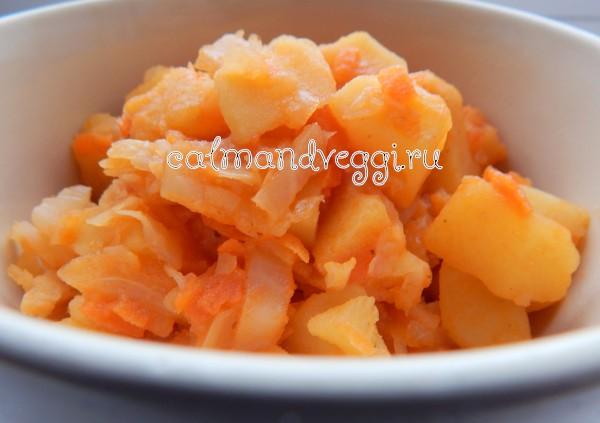Рагу с капустой и картошкой пошаговый рецепт с фото