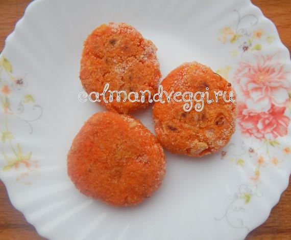 вкусные морковные котлеты с манкой