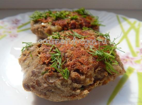 постные чечевичные котлеты пошаговые рецепты с фото