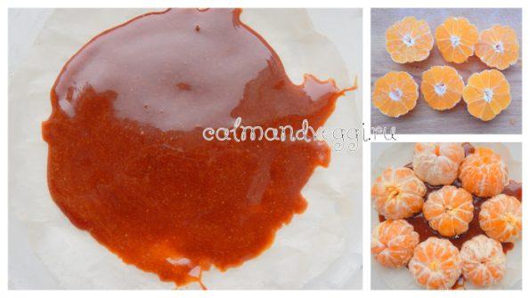 мандариновый пирог просто бомба с карамелью и половинками мандаринов