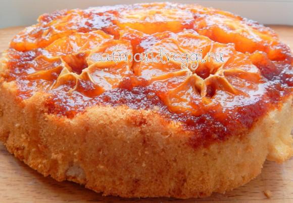 перевернутый заливной пирог с мандаринами