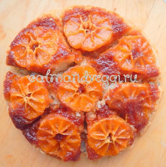 заливной пирог с мандаринами в духовке