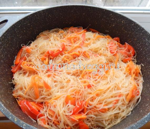 фунчоза с овощами рецепт с фото пошаговый