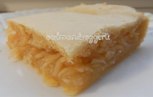 песочный пирог с яблоками - вкусный рецепт с пошаговыми фото
