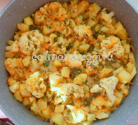 рагу из цветной капусты и картофеля