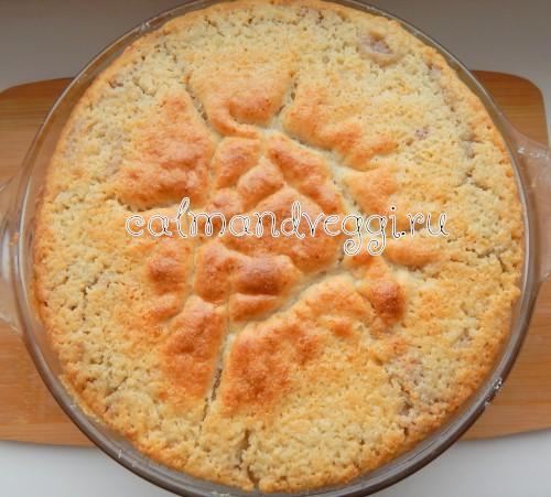 простой пирог с вишней на кефире, пошаговый рецепт с фото