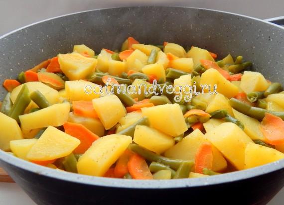 стручковая фасоль с картошкой
