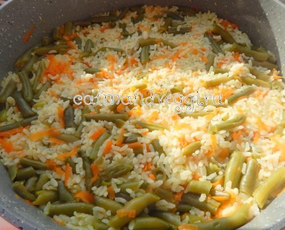 стручковая фасоль с рисом пошаговый рецепт с фото