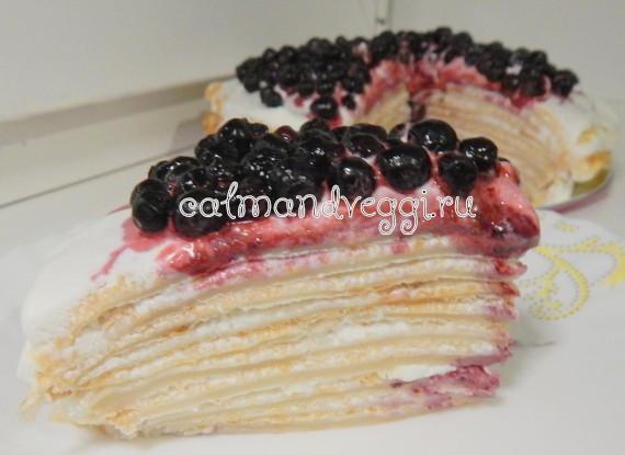 блинный торт без яиц